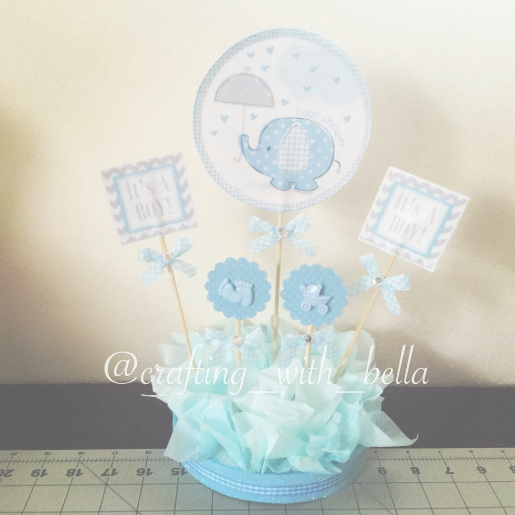 Modular It's A Boy Table Centerpiece Es Un Niño Centro De Mesa A Simple And in Set Centros De Mesa Para Baby Shower Economicos