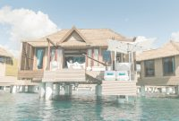 Modular Jamaica's Newest Overwater Bungalows Come With The Bathtub Of Your inside Good quality Sandals Over The Water Bungalows