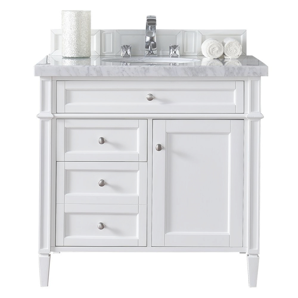 Modular James Martin Signature Vanities Brittany 36 In. W Single Vanity In throughout Lovely White Bathroom Vanity With Top