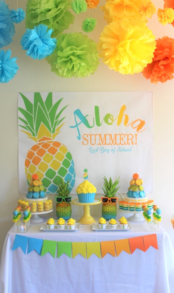 Modular Kara's Party Ideas Aloha Summer Party | Kara's Party Ideas pertaining to Summer Baby Shower Ideas