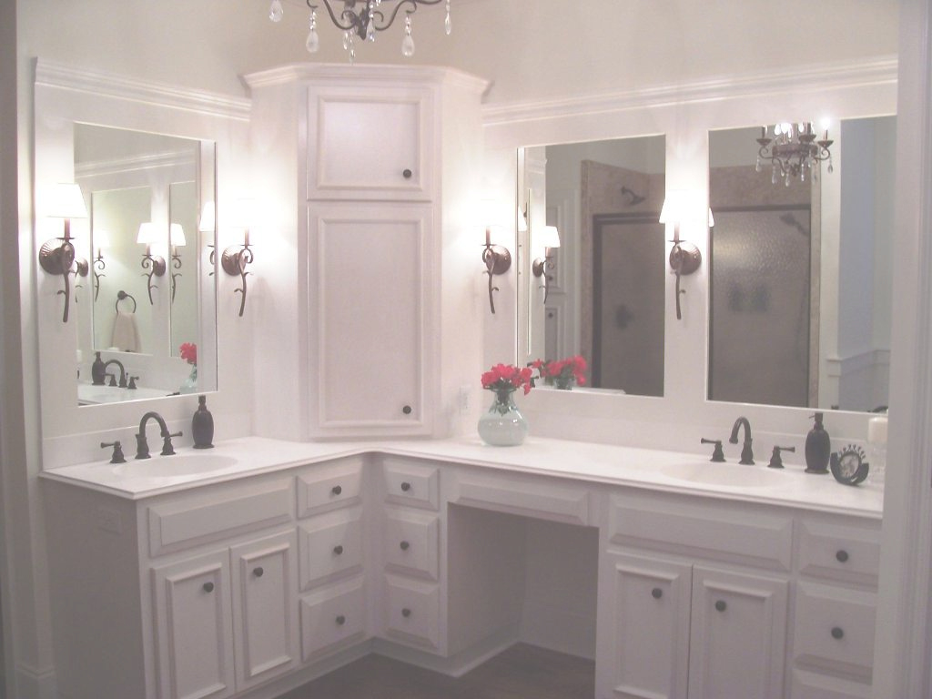 Modular L Shaped Double Sink Bathroom Vanity Single Vanity Bathroom Vanity within Corner Bathroom Vanity Sink