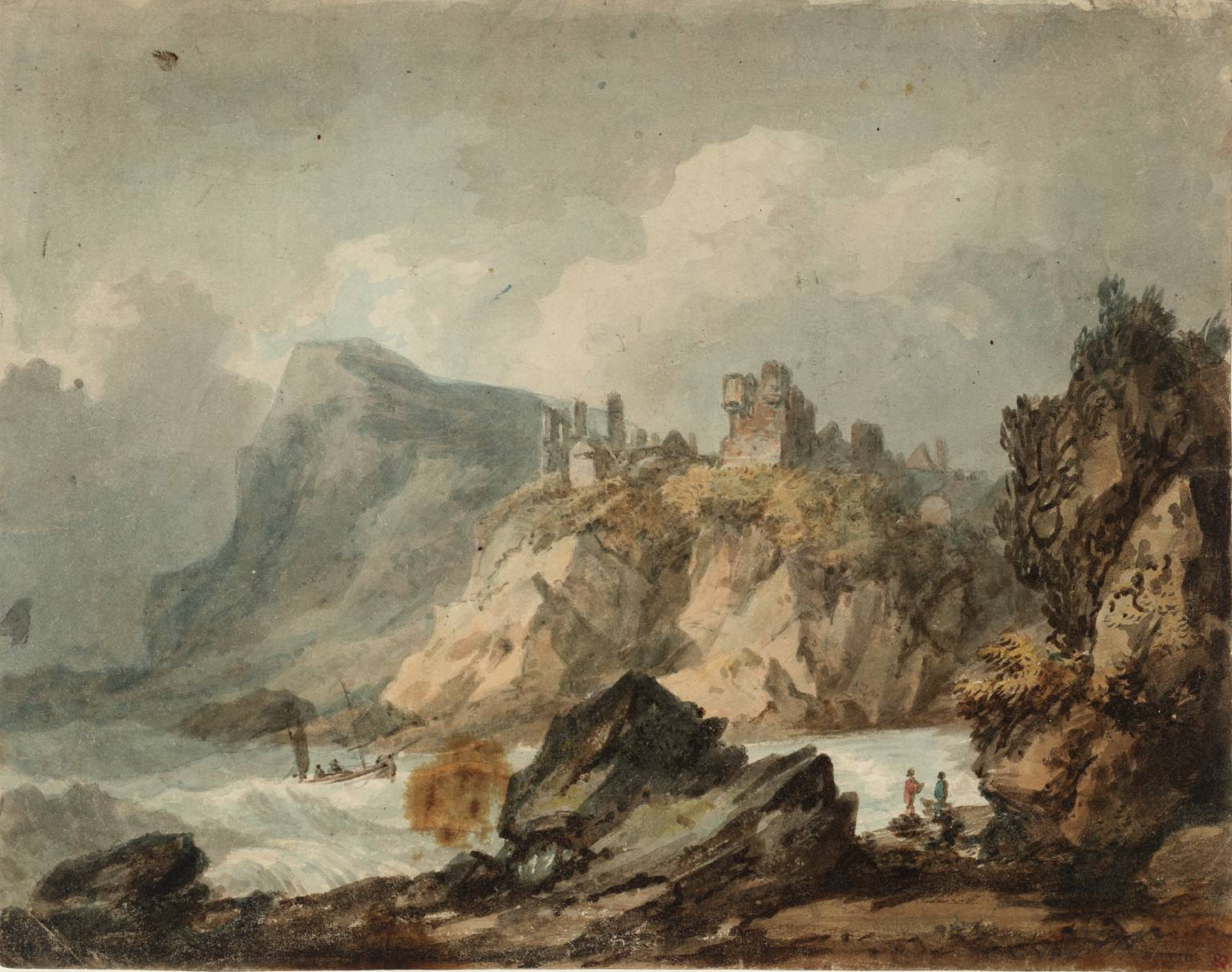 Modular Landscape Composition With A Ruined Castle On A Cliff', Joseph with regard to Landscape Painting Composition