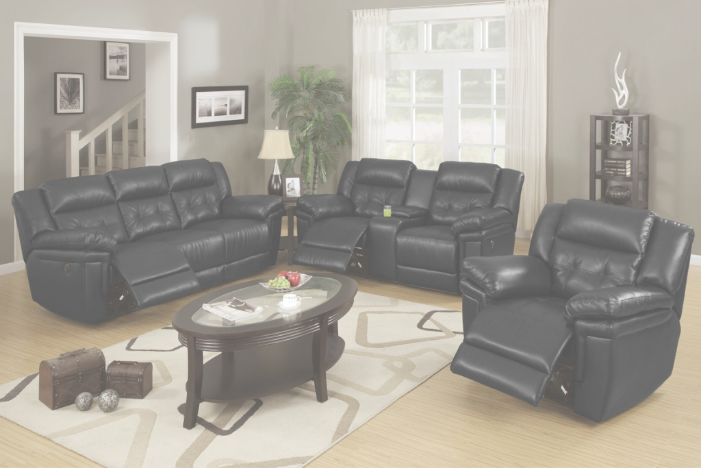 Modular Leather Black Living Room Furniture — Elisa Furniture Ideas for Black Living Room Chairs
