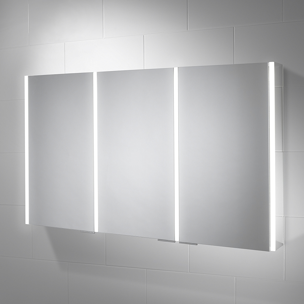 Modular Led Bathroom Mirrors Homebase : Built-In Led Bathroom Mirrors inside Awesome Bathroom Mirror With Built In Light