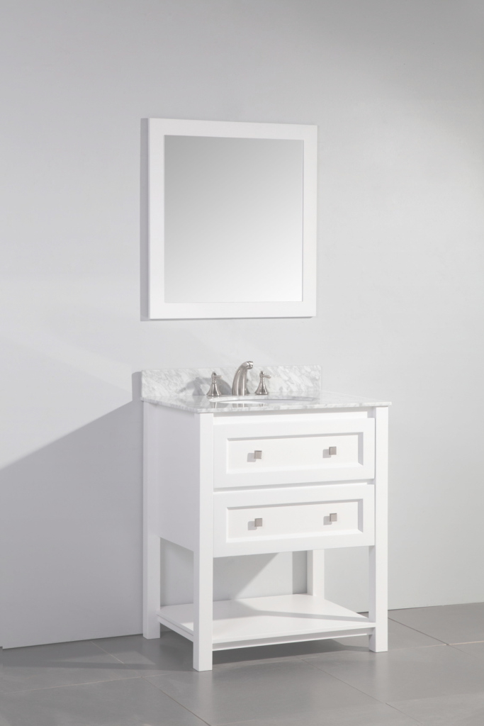 Modular Legion 30 Inch Contemporary Single Sink Bathroom Vanity Set White Finish with Inspirational 30 White Bathroom Vanity