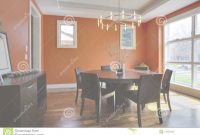 Modular Luxury Dining Room With Orange Walls Stock Image – Image Of Chair pertaining to Awesome Orange Dining Room