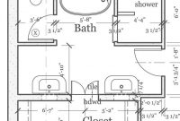 Modular Master Bathroom Layout Plan With Bathtub And Walk In Shower | If I within Beautiful Master Bathroom Layouts