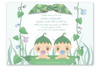 Modular Mesmerizing Baby Shower Invitations For Twins To Create Your Own pertaining to Beautiful Baby Shower Invitations For Twins
