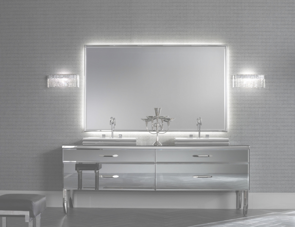 Modular Milldue Mitage Hilton 01 Mirrored Fume Luxury Italian Bathroom Vanities with regard to Unique Luxury Bathroom Vanity