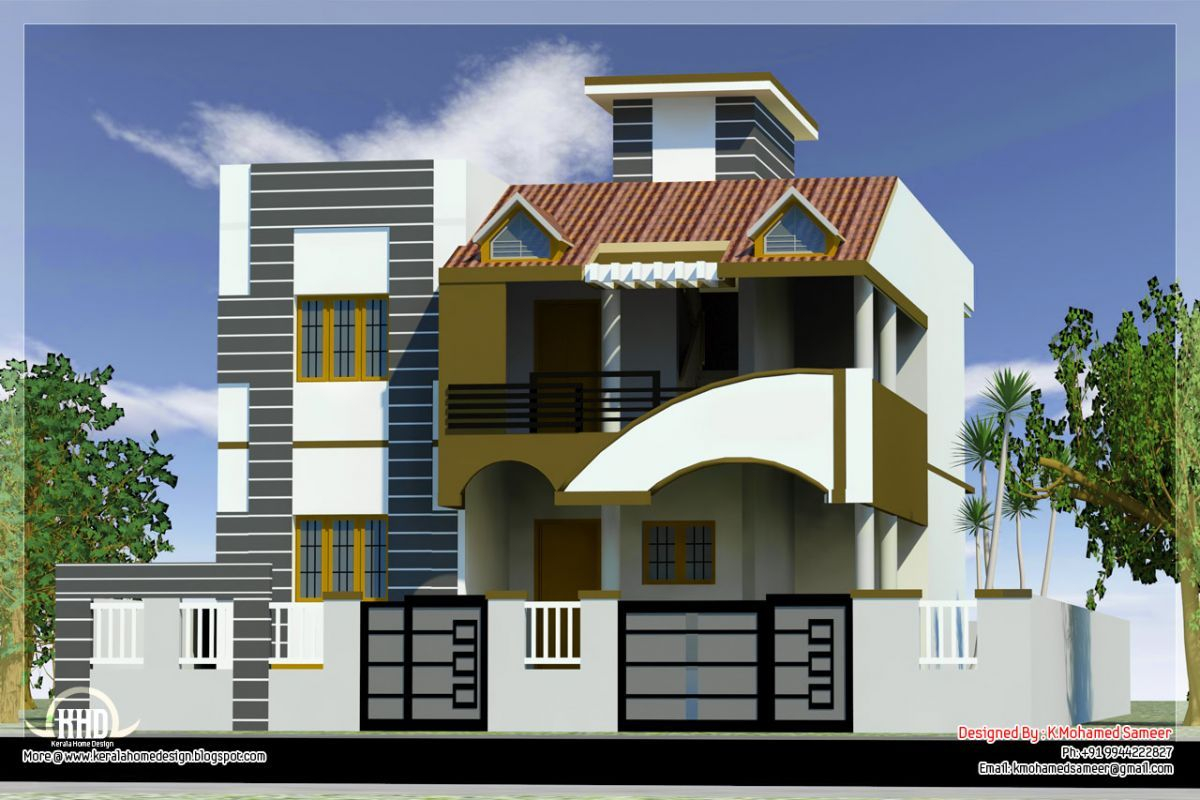 Modular Modern House Front Side Design India Elevation - Building Plans inside Indian Home Elevation Design Photo Gallery
