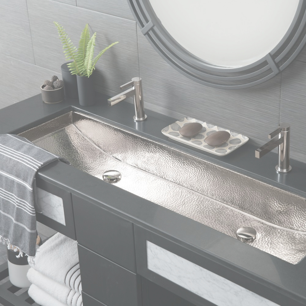 Modular Modern Rectangular Trough Bathroom Sinks | Native Trails regarding Best of Trough Sink Bathroom