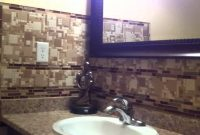 Modular New Bathroom Backsplash Mosaic Glass Stone Tile Mable Install Best inside How To Install Stone Backsplash