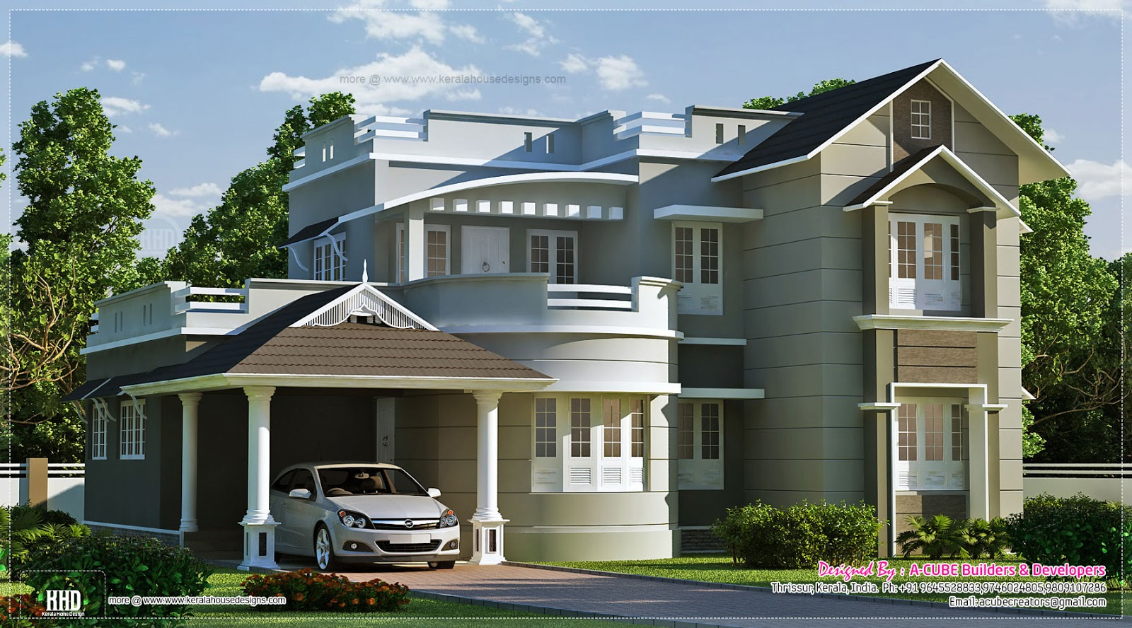 Modular New Style Home Exterior Feet Kerala Design Floor - House Plans | #68684 inside New House Plans In Kerala