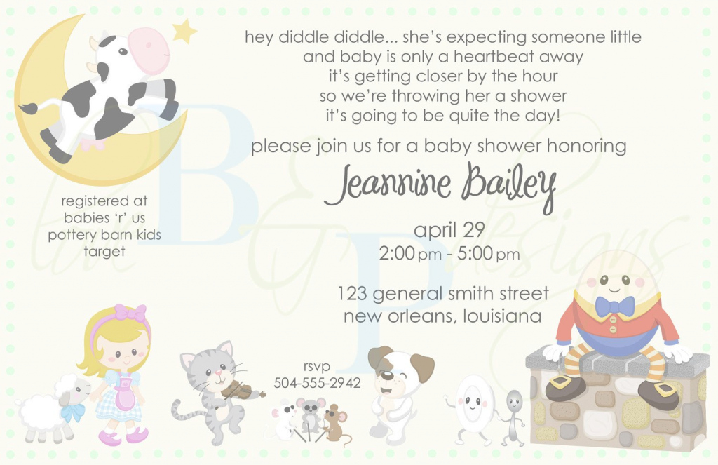 Modular Nursery Rhyme Baby Shower | Nursery Rhyme/mother Goose - Baby Shower pertaining to Best of Baby Shower Rhymes