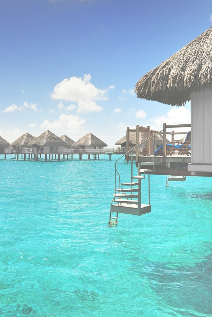 Modular Over Water Bungalows With Steps Into Lagoon | Luxury Beach Villas regarding Best of Bungalows In Bora Bora