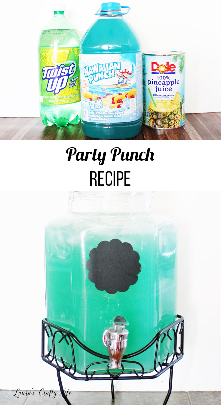Modular Party Punch - Laura's Crafty Life pertaining to High Quality Blue Hawaiian Punch Baby Shower Recipe