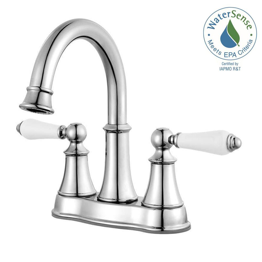 Modular Pfister Courant 4 In. Centerset 2-Handle Bathroom Faucet In Polished with Bathroom Faucet Handles
