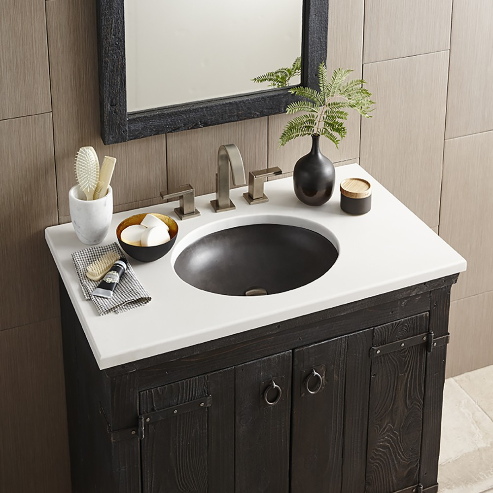 Modular Quartz Bathroom Vanity Top In Whisper White | Native Trails pertaining to Bathroom Vanity With Top