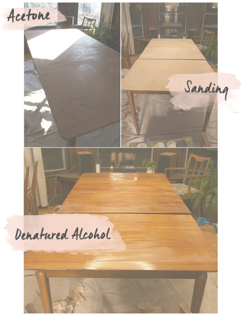 Modular Refinishing The Dining Room Table - Deuce Cities Henhouse for How To Refinish A Dining Room Table