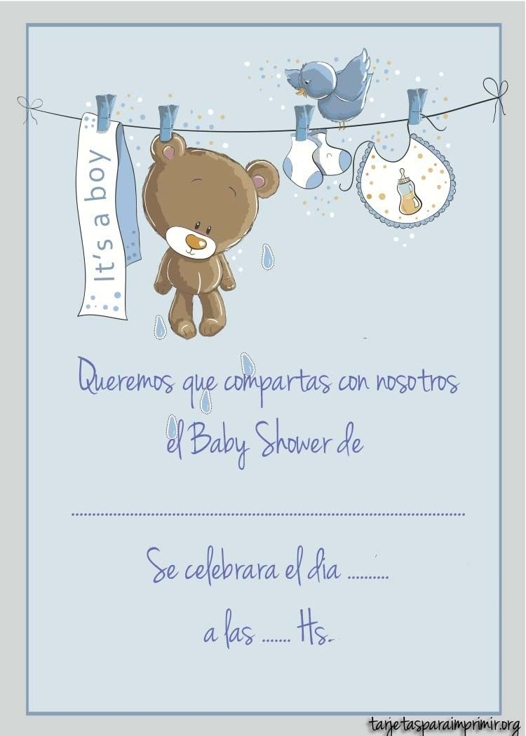 Modular Resultado De Imagen Para Invitaciones Baby Shower Varon | Bebé intended for Review Invitaciones Para Baby Shower De Niño