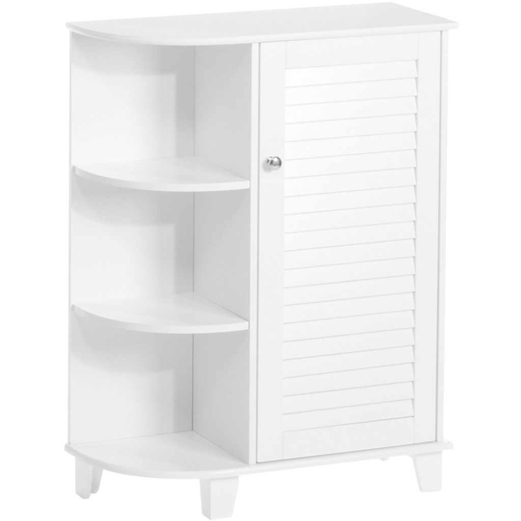 Modular Riverridge Home Ellsworth Collection - Floor Cabinet With Side with Best of Bathroom Floor Cabinet White