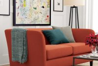 Modular Rust And Teal In A Living Roomcrate & Barrel | Pinterest intended for Crate And Barrel Living Room