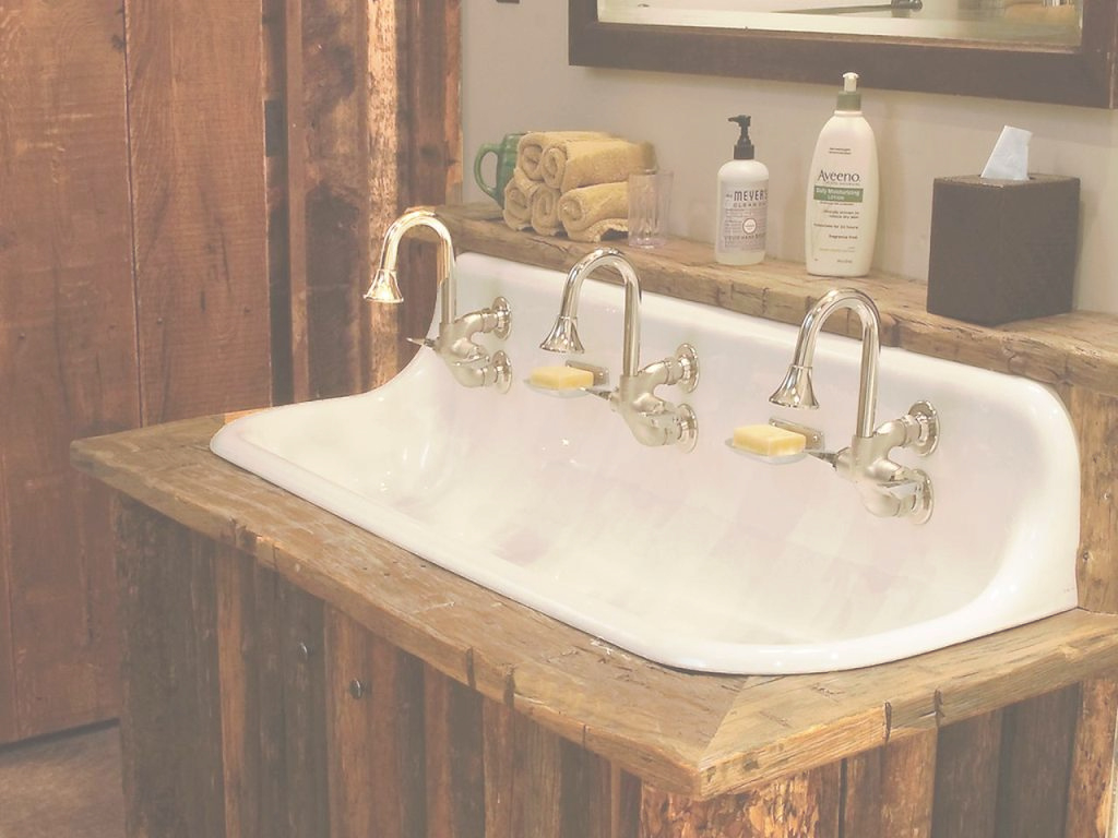 Modular Rustic Trough Style Bathroom Sinks | Phobi Home Designs : Commercial within Trough Sink Bathroom