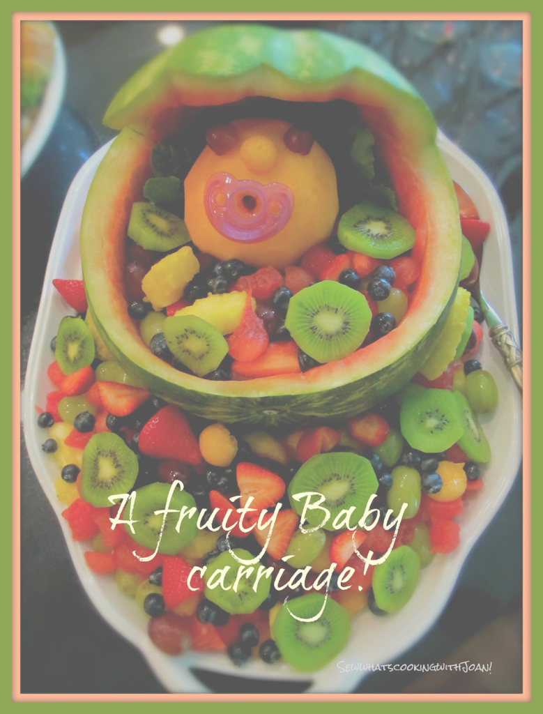 Modular Sew What's Cooking With Joan!: How To Carve A Watermelon Baby Carriage! in Watermelon Baby Shower