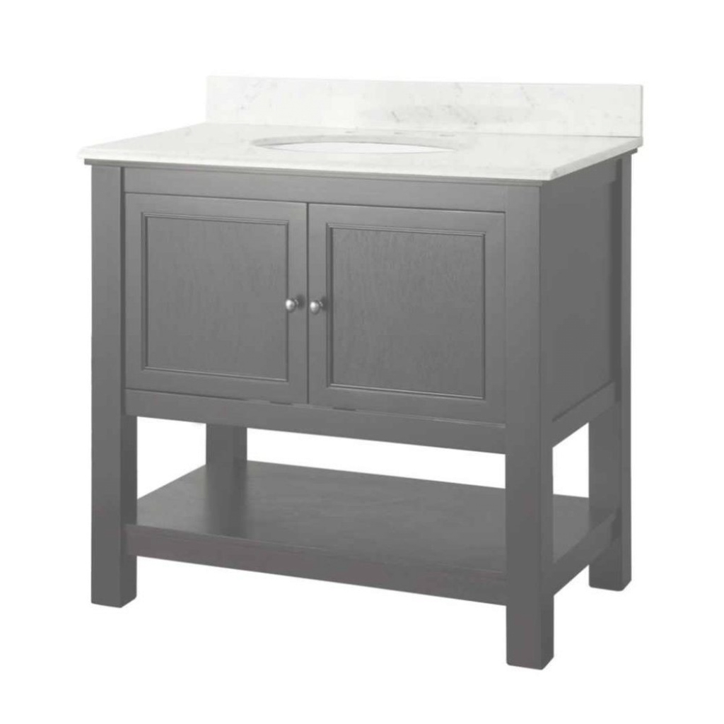 Modular Single Sink - Vanities With Tops - Bathroom Vanities - The Home Depot inside Elegant White Bathroom Vanity Home Depot