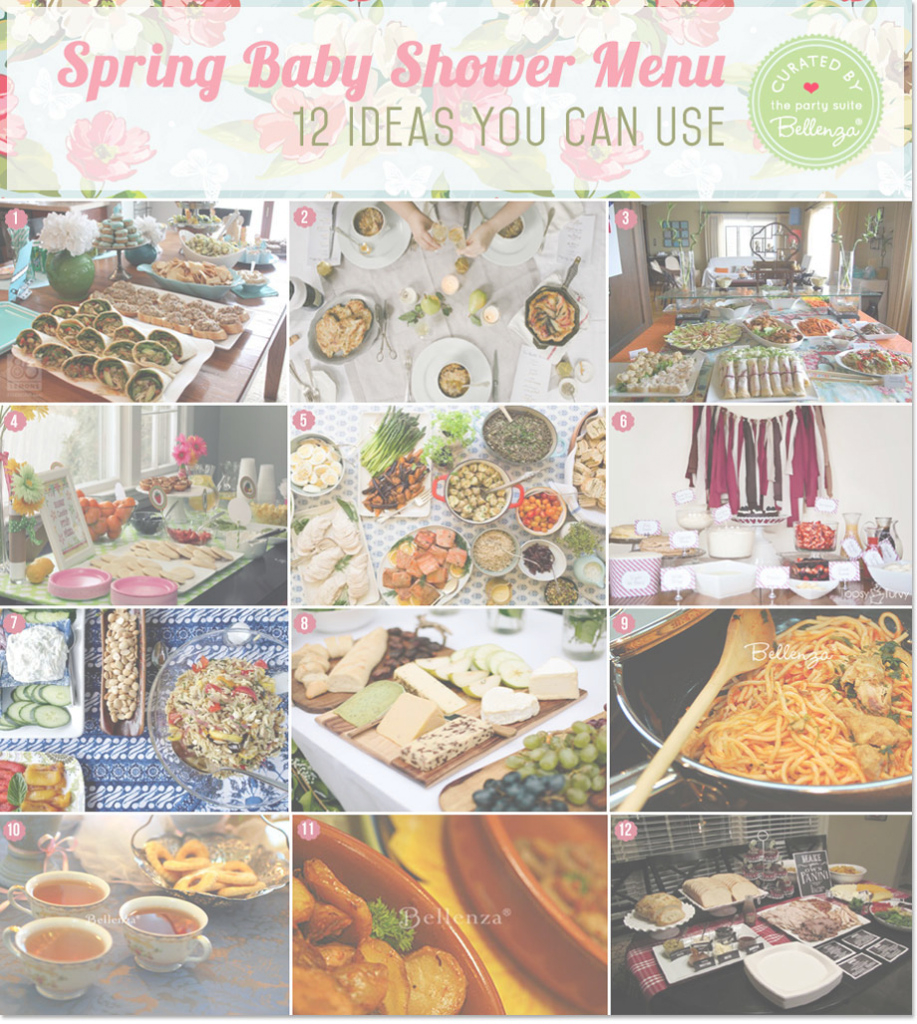 Modular Spring Baby Shower Menu Ideas: Definitely Delish + Doable! intended for Food Ideas For Baby Shower