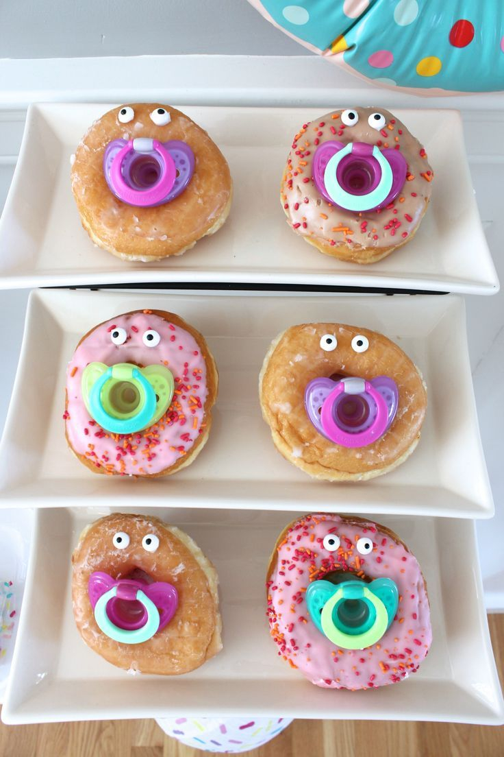 Modular Sprinkle Baby Shower | Pinterest | Baby Shower Foods, Donuts And Babies inside Elegant Baby Girl Shower Food Ideas