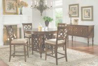 Modular Standard Furniture Woodmont Round Counter Height Table Set In Cherry with regard to Beautiful Standard Dining Room Table Height