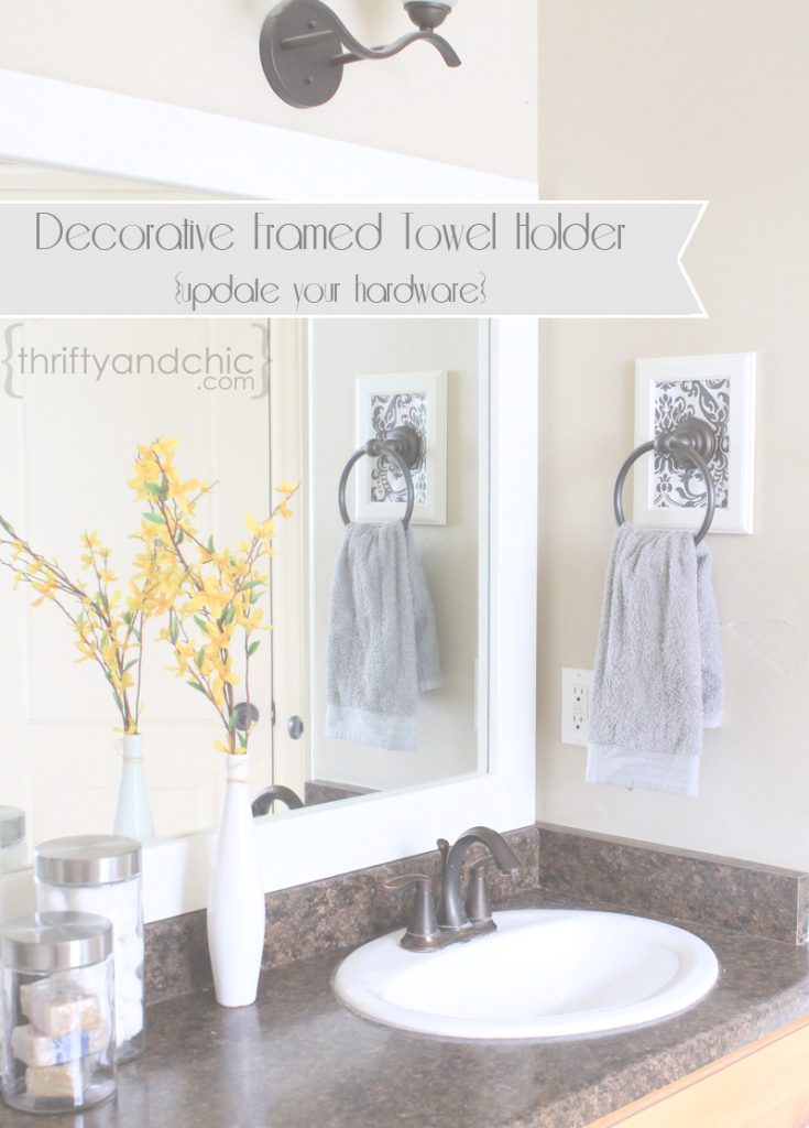 Modular Thrifty And Chic - Diy Projects And Home Decor throughout Bathroom Towel Holder Ideas