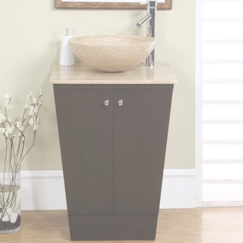 Modular Top Petite Bathroom Vanity 22 Modern Single Sink Travertine pertaining to Lovely Petite Bathroom Vanity