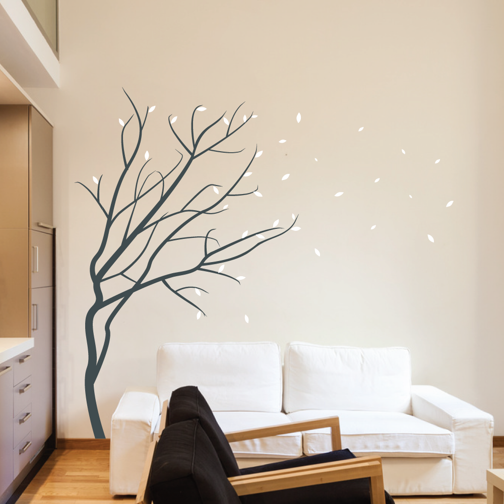 Modular Tree Wall Stickers - 10 - In Decors with Unique Tree Wall Decals For Living Room