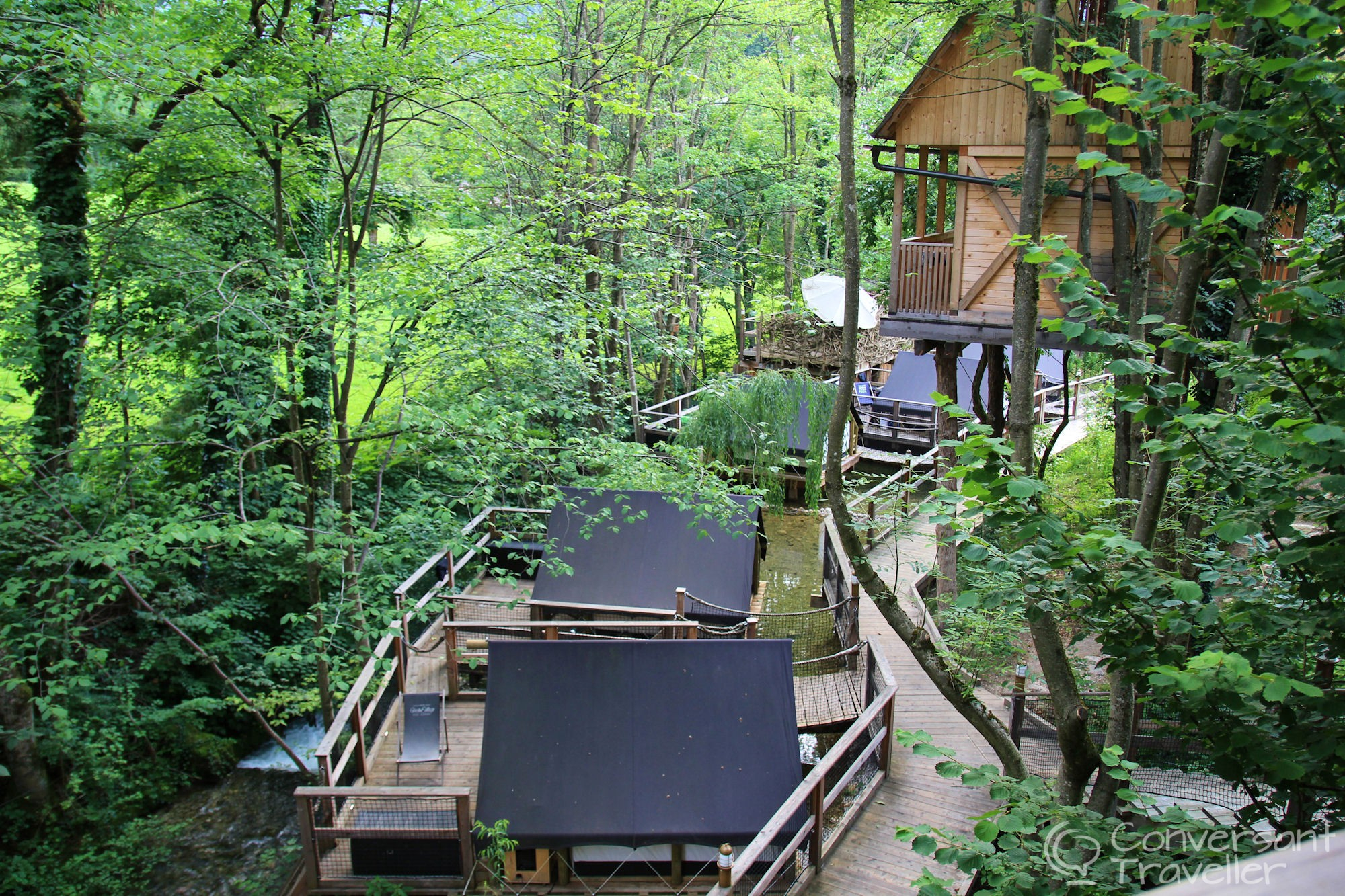 Modular Treehouse Sleeping At Garden Village Bled - Conversant Traveller throughout Garden Village Lake Bled