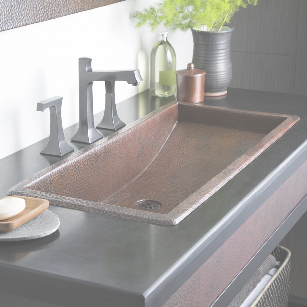 Modular Trough 36 - 36-Inch Rectangular Copper Bathroom Sink | Native Trails within Best of Trough Sink Bathroom