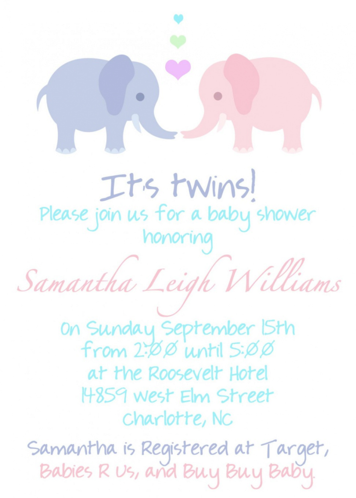 Modular Twin Baby Shower Invitations Twin Baby Shower Invitations With Some intended for Baby Shower Invitations For Twins