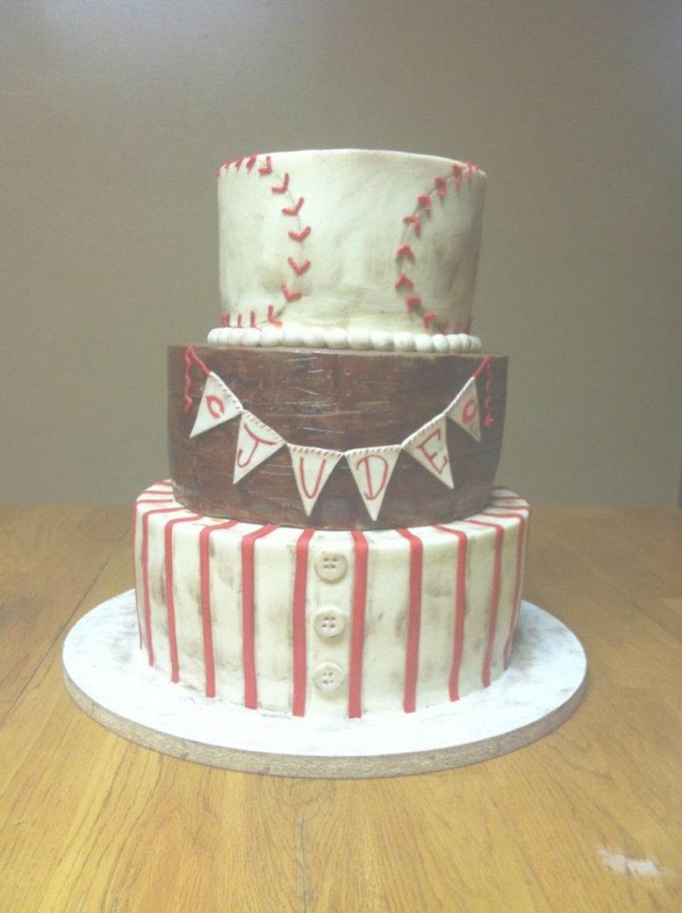 Modular Vintage Baseball Baby Shower - Cakecentral throughout Baseball Baby Shower Cakes
