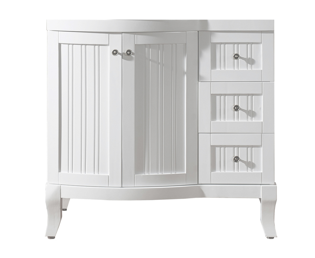 Modular Virtu Usa Khaleesi 36 Bathroom Vanity Cabinet In White | Bathtubs Plus pertaining to Lovely 36 White Bathroom Vanity
