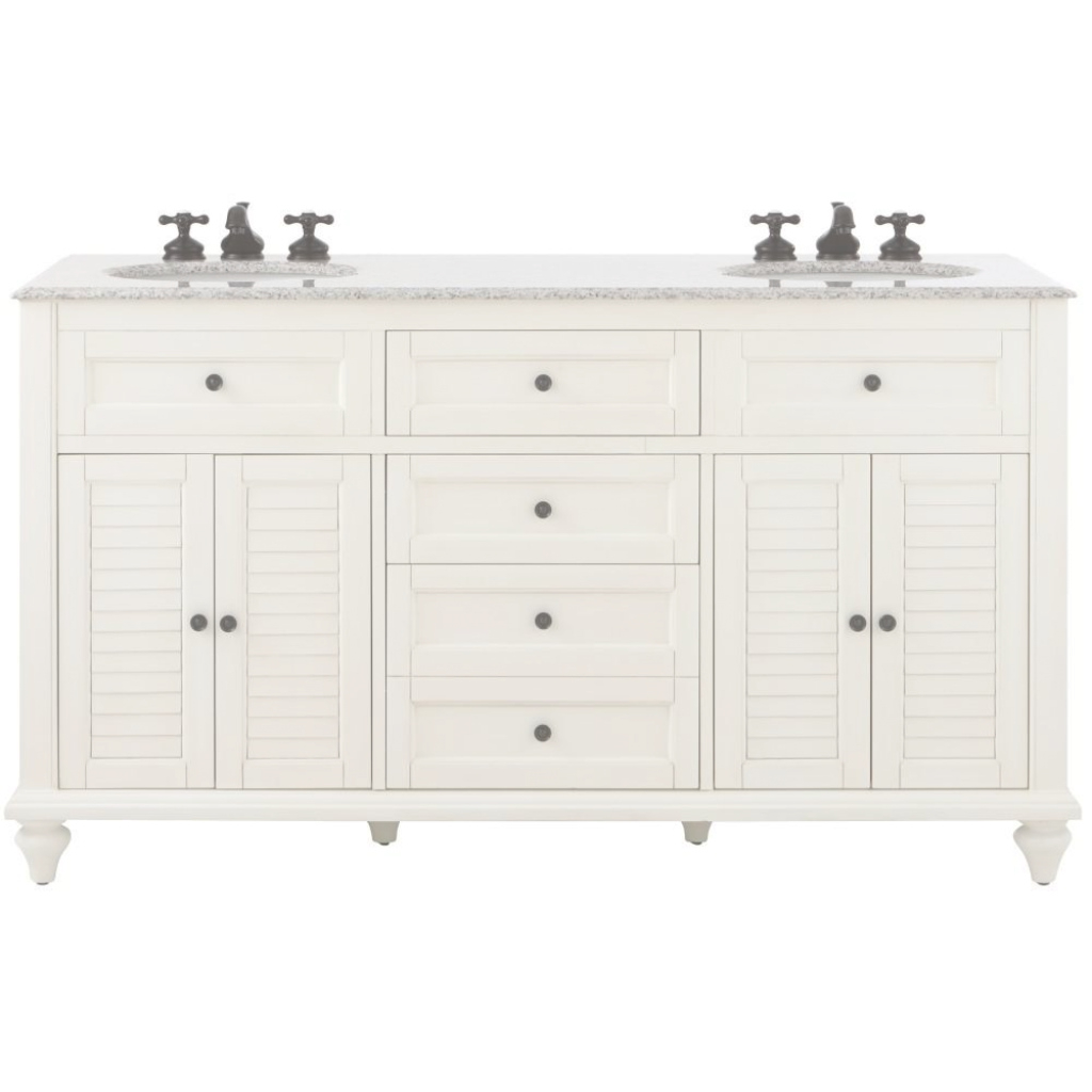 Modular White - Bathroom Vanities - Bath - The Home Depot with White Bathroom Vanity Home Depot
