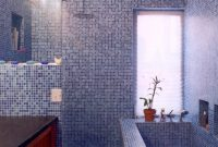 Modular Wholesale Mosaic Tile Crystal Glass Backsplash Kitchen Blue regarding Blue Glass Tile Bathroom