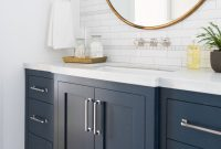 Modular Windsong Tour: Basement Pt. 1 | Pinterest | Navy Cabinets, Studio intended for High Quality Blue Bathroom Vanity Cabinet