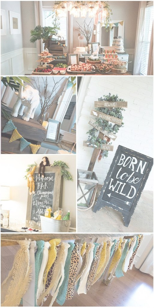 Amazing Born To Be Wild Baby Shower Brunch | Sweetwood Creative Co. Blog inside Modern Baby Shower Ideas