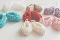 Amazing Crochet Mini Booties Favors Baby Shower Favors 1St | Etsy regarding Unique Crochet Baby Shower Favors
