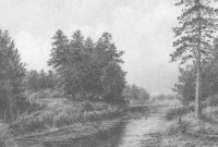 Amazing Drawing Pencil | How To Draw A Landscape With Trees And A Small inside Awesome Landscape Drawing In Pencil