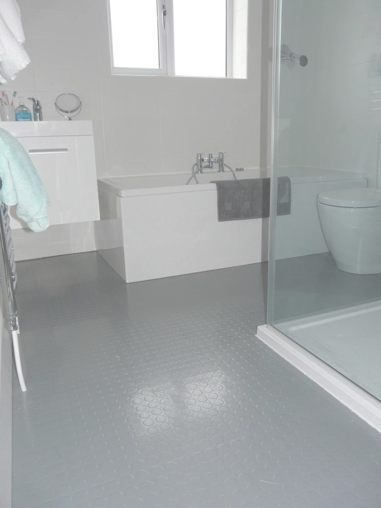 Amazing Grey Rubber Floor … | House Ideas | Bathr… with regard to Rubber Bathroom Flooring
