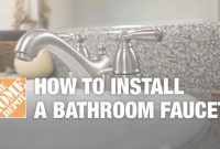 Amazing How To Install Or Replace A Bathroom Sink Faucet – Youtube within Luxury Bathroom Faucet Installation