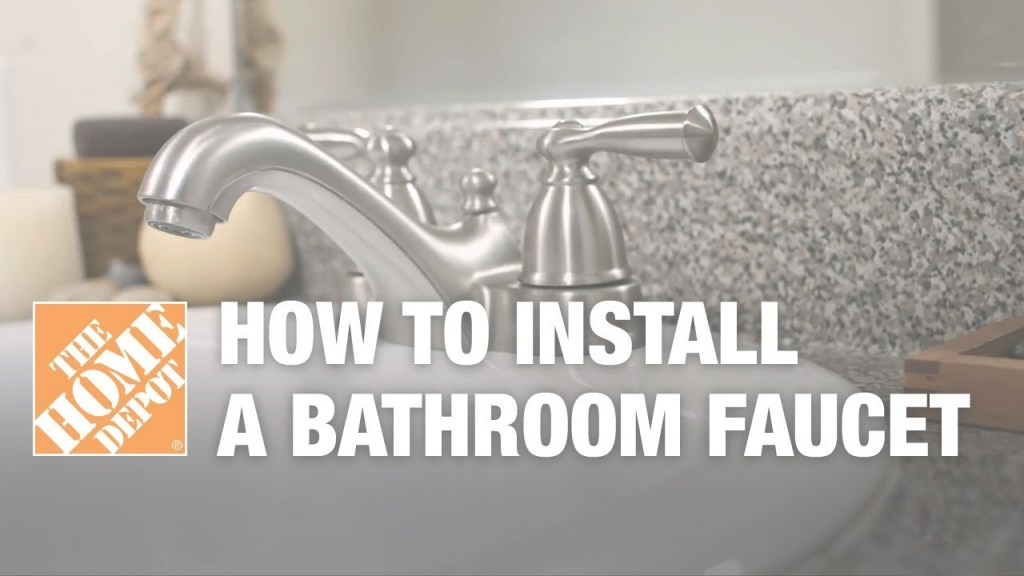 Amazing How To Install Or Replace A Bathroom Sink Faucet - Youtube within Luxury Bathroom Faucet Installation