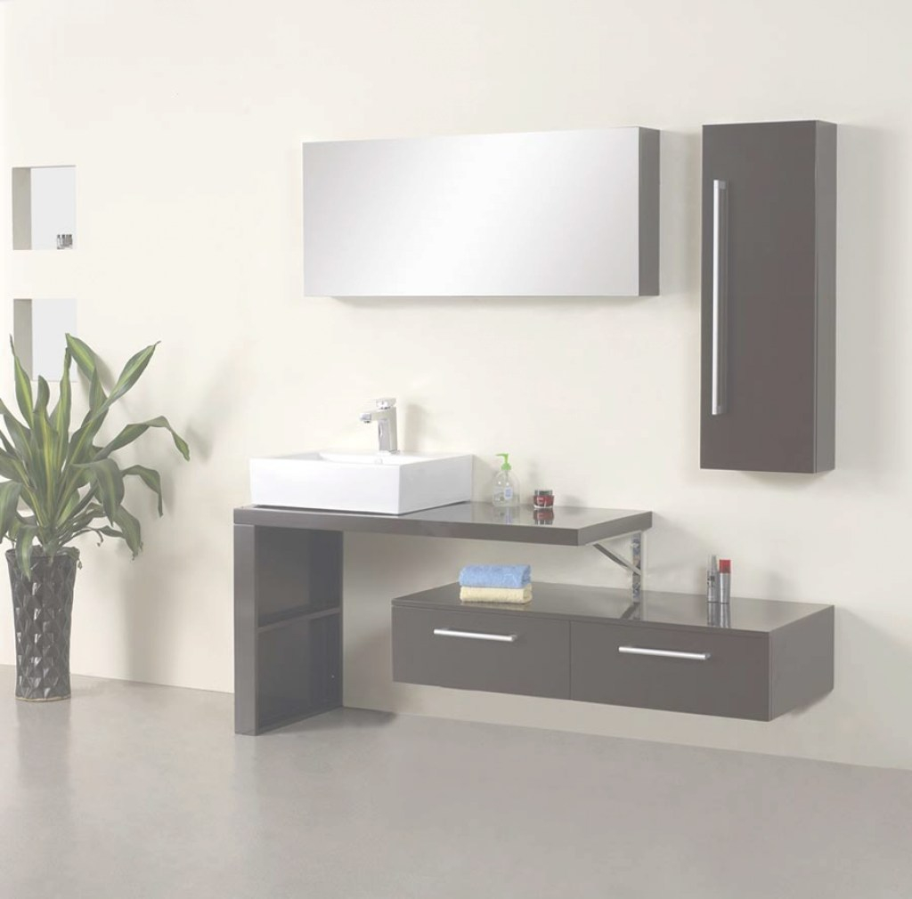 "Amazing Mirage Modern Bathroom Vanity Set 47.2"" intended for Contemporary Bathroom Vanities"